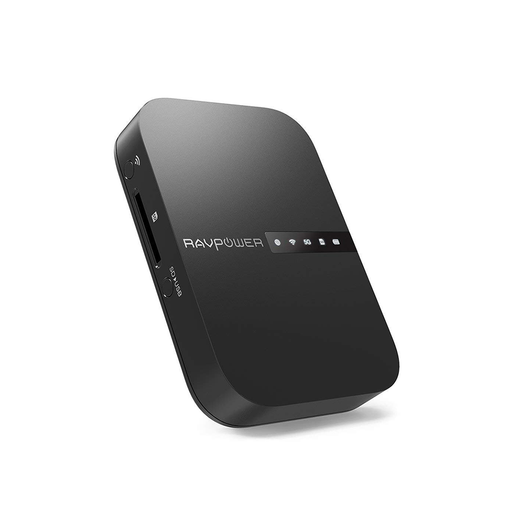RAVPower FileHub Travel Router AC750 Wireless SD Card Reader USB Hard Drive