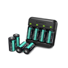 RAVPower CR123A Lithium-ion Batteries 8 Pack 3.7V Rechargeable Arlo Cameras