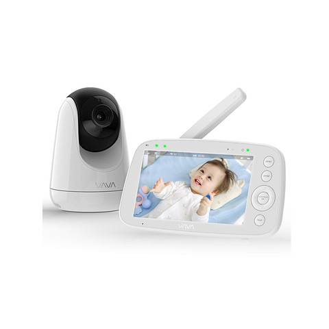 "VAVA Baby Monitor 5"" HD Display Video with Camera Audio IPS Screen Night Vision"