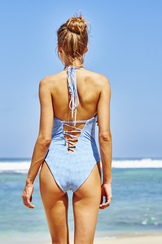 Cote D'Azur Denim Swimsuit