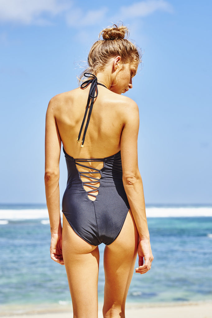 Cote D'Azur Black Swimsuit