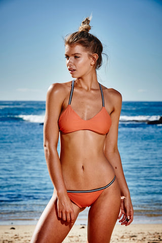 b405dd770d42e South Beach Scoop Burnt Orange Bikini Top