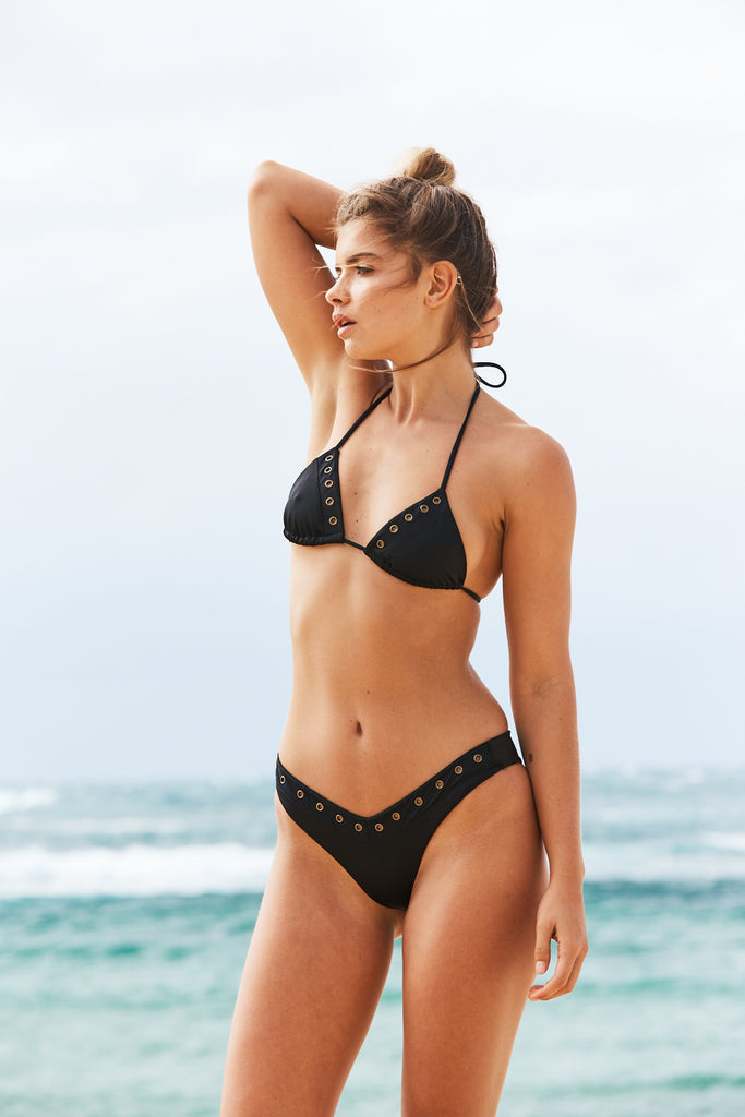 Bahamas Triangle Bikini Top in Black