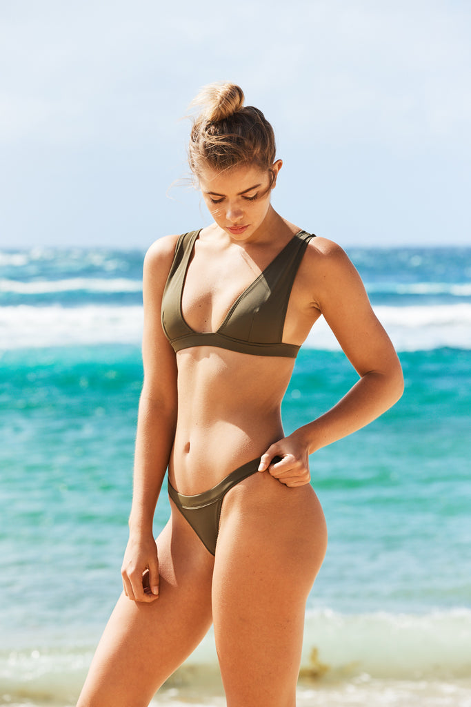 Palm Beach Bikini Pant in Khaki