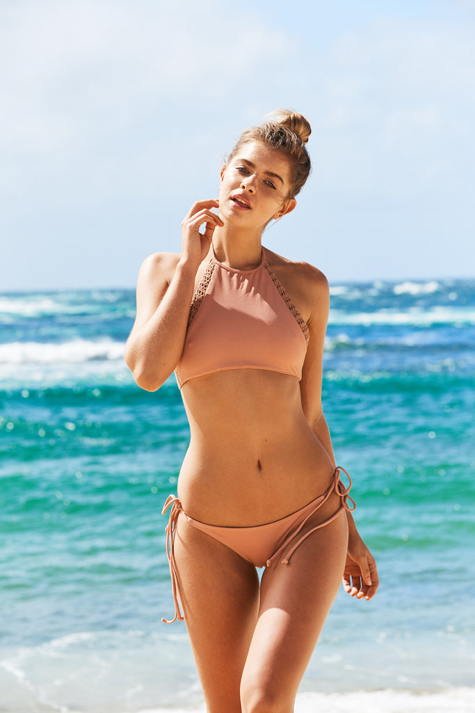 Bronte Bikini Pants in Blush Pink