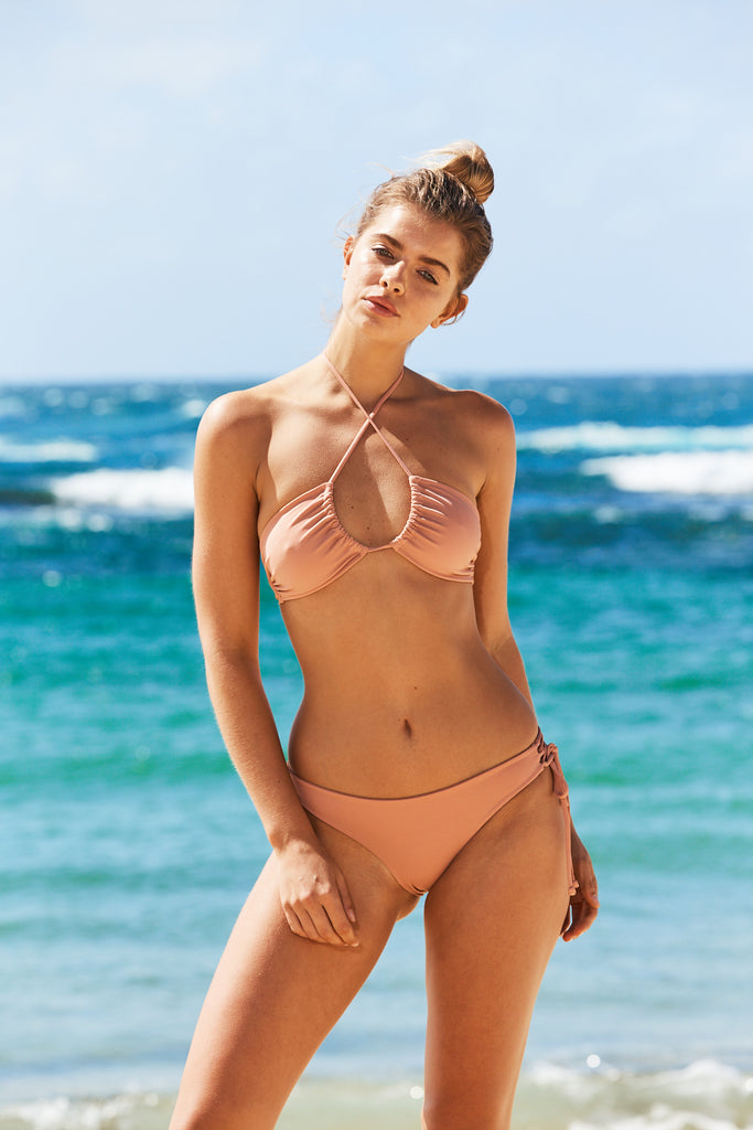 Aruba three way bikini top in Blush Pink