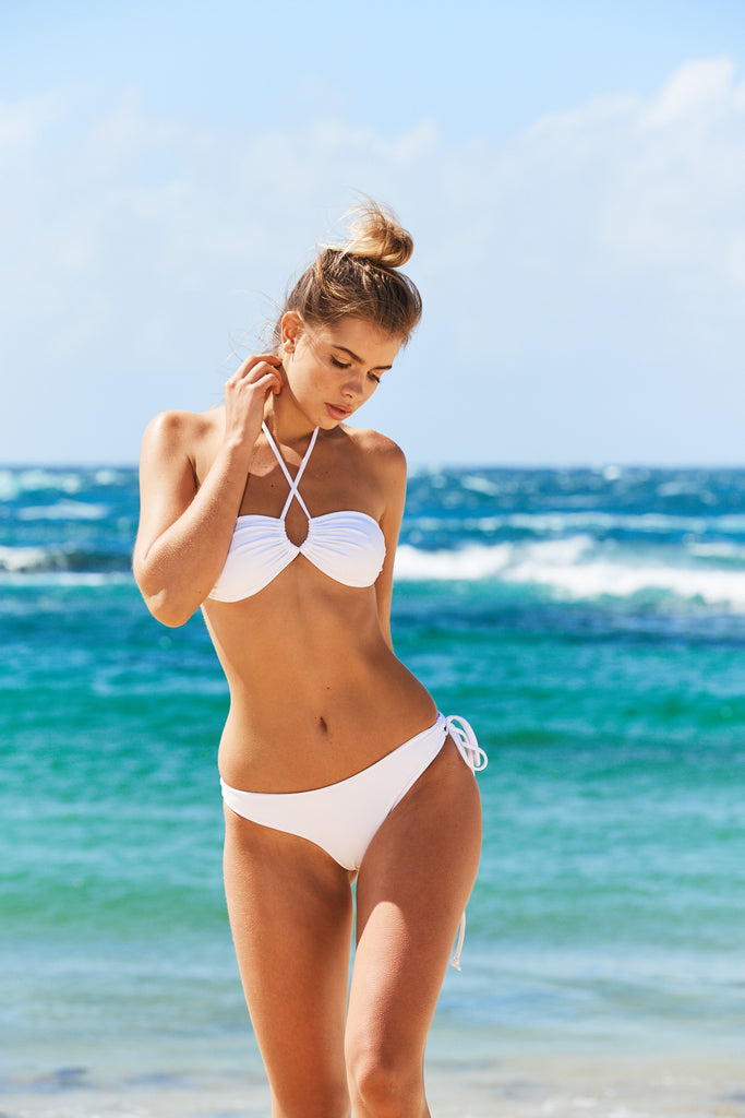 Aruba Three Way Bikini Top in White