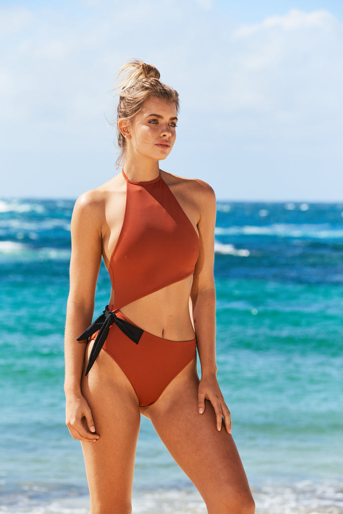 Marseille One Piece Swimsuit in Rust