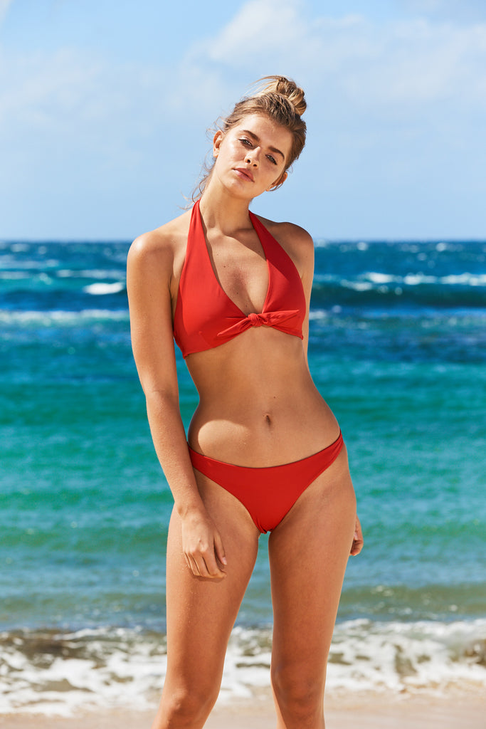 Majorca Bikini Pant in Red