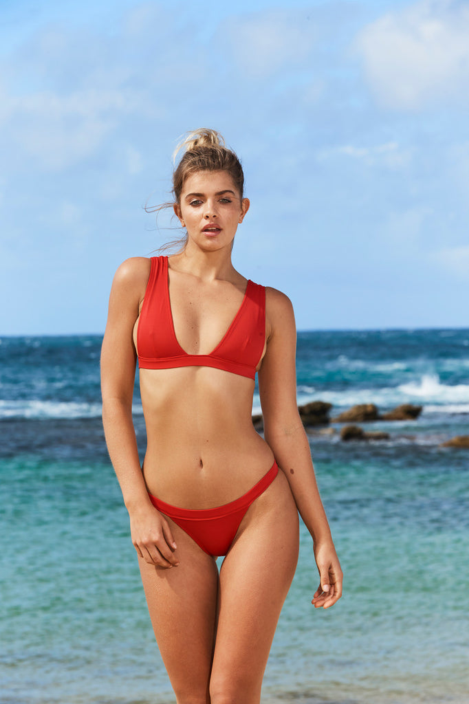 Palm Beach Bikini Top in Red