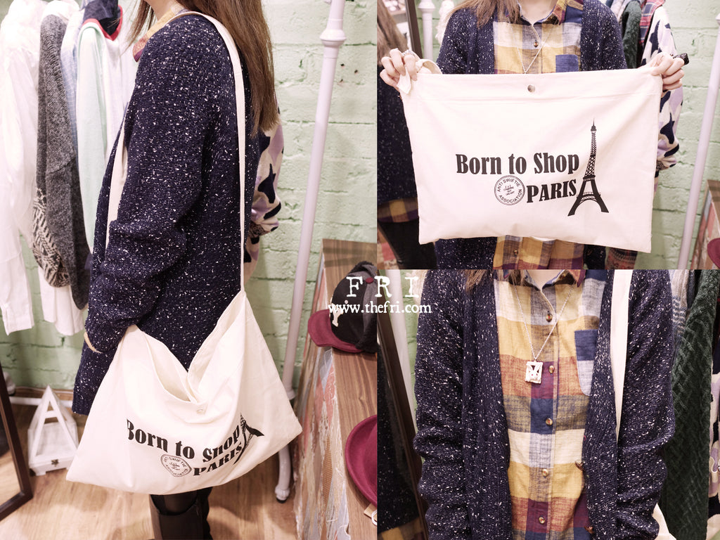 【FRI小物】Born to Shop Paris麻布袋 - thefrishop