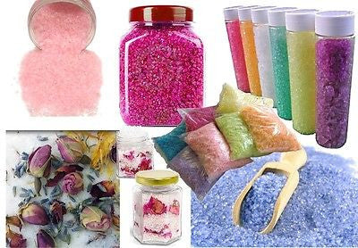 Bathing Crystals / Salts Making DIY BULK Kit