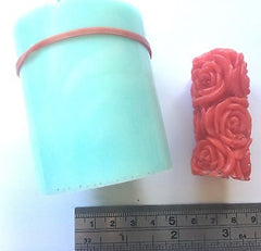 Rose Pillar Silicone Mould: Medium or Mini