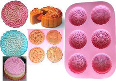 Mooncakes Silicone Soap Tray Mould (6 Cavities)