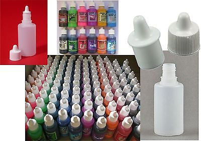 30ml White/Transparent Eye Dropper Bottles with Drip Cap
