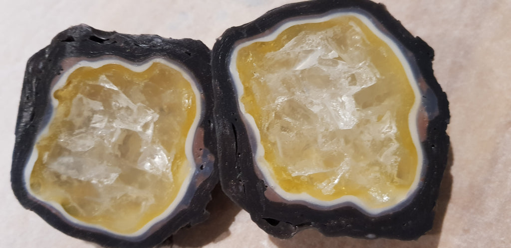 Geode Citrine Crystal Gem Specimen Soap Bar