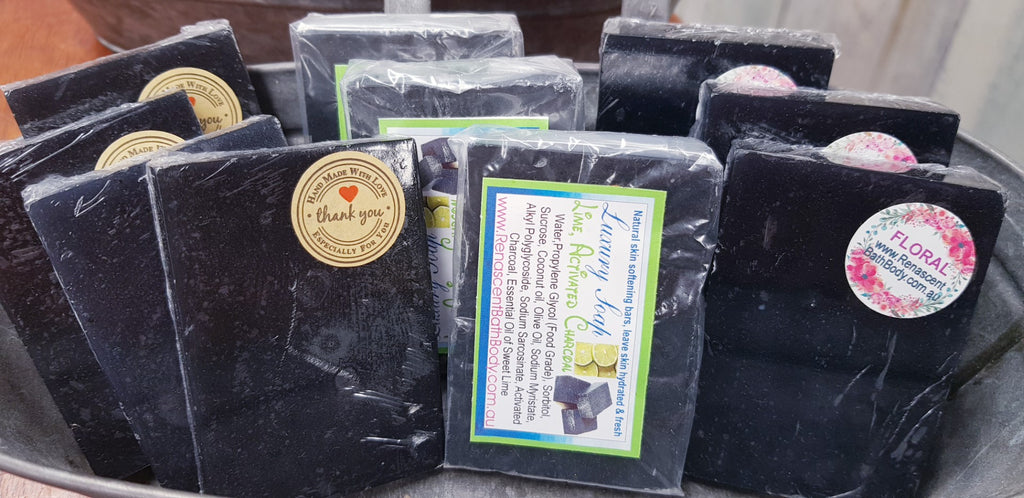 Activated Charcoal Floral Soap Cleansing Bar