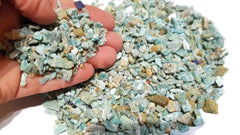 Amazonite Rough Gemstone Chips x 100gm