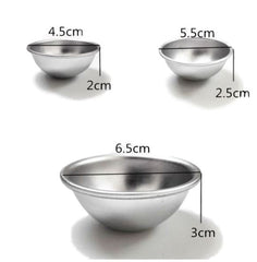 Metal Bath Bomb Sphere Mould 65mm