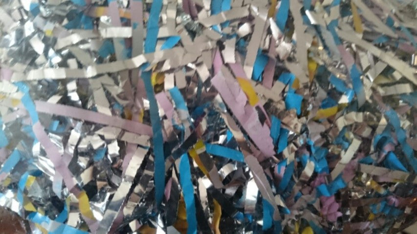 Blue and Silver Shredded Cellophane