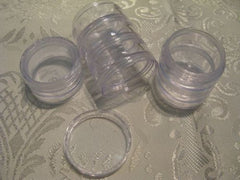 5ml Round Clear Pots + Lids Stackable