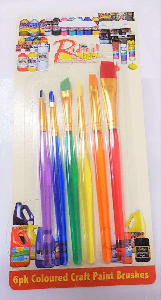Rainbow Brushes set of 6 High Quality for Soap Paints