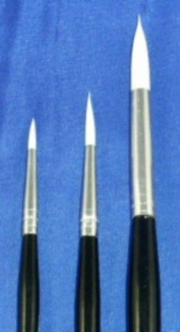Brushes set of 3 High Quality for Soap Paints