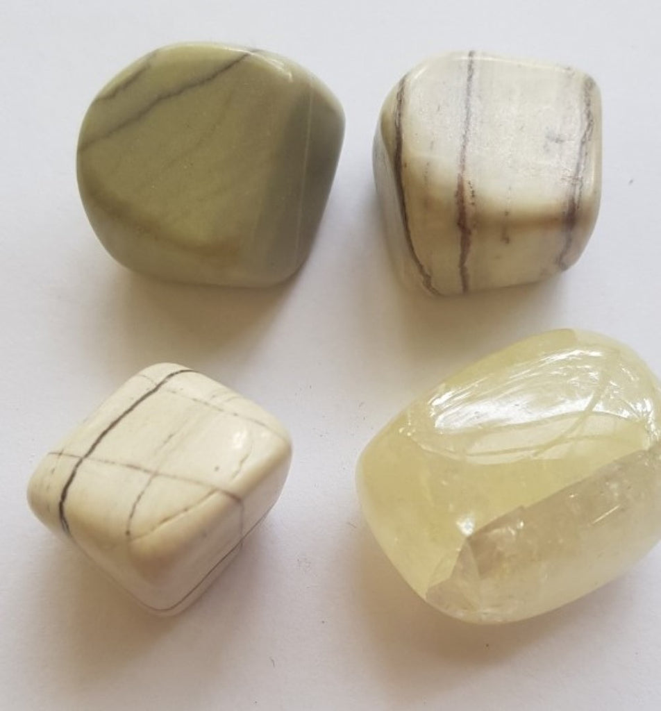 Citron Calcite Tumbled Polished Gemstone Specimen