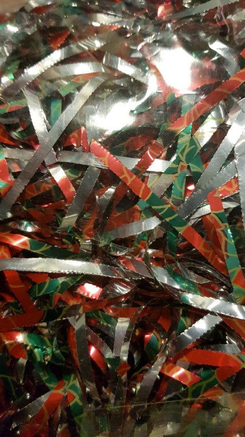 Red, Green, Gold and Silver Festive Shredded Cellophane