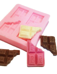 Chocolate Bar Bite Mini 4 cavity Silicone Mould