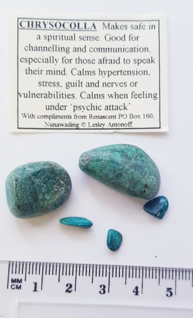 Chrysocolla Tumbled Polished Gemstone Specimen