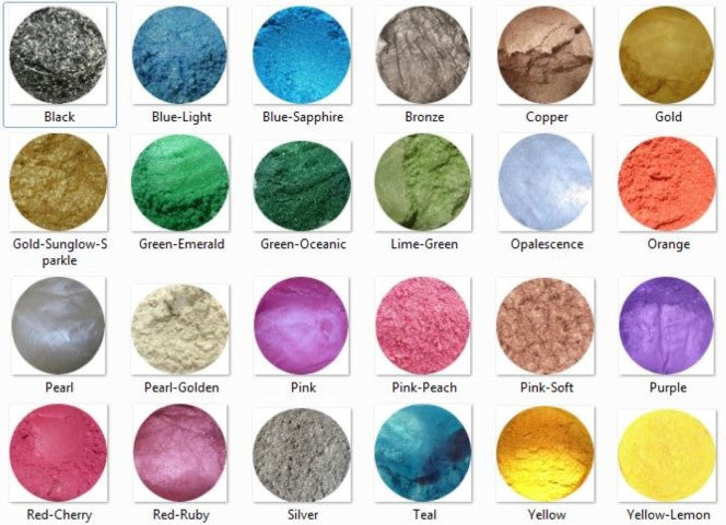 Mica Mineral Make Up Cosmetic Pots