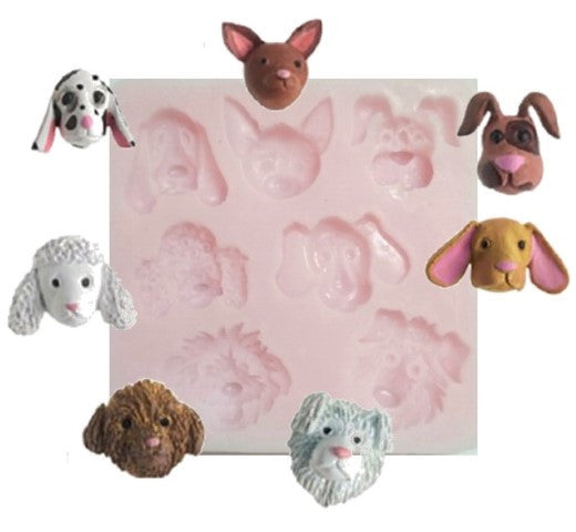 Dog Faces Mini Silicone Mould