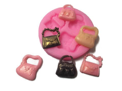 Handbags Mini (3 cavities) Silicone Mould