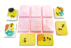 Honeybee Rectangle 6 cavity Silicone Mould