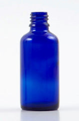 50ml Blue Glass Bottle with Spray Mister