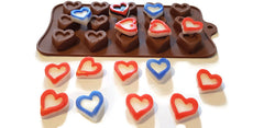 Heart Flourish Chocolate Silicone Mould