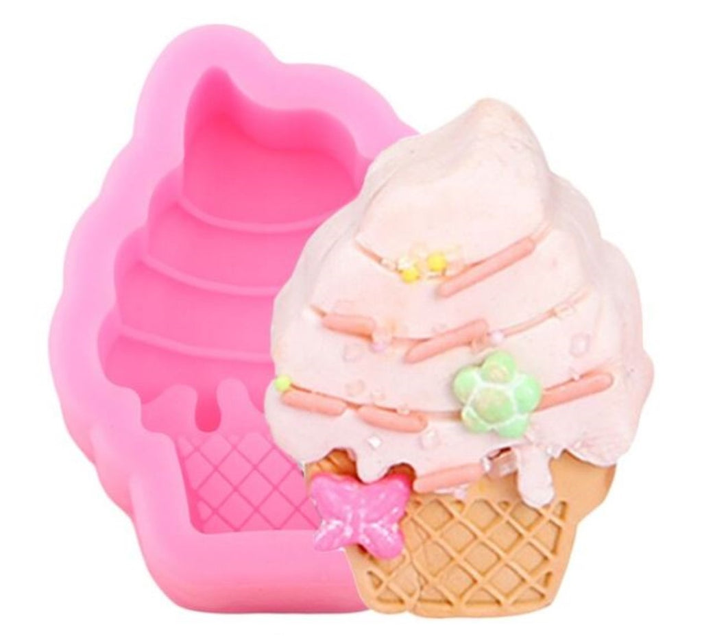 Ice Cream Cone Mini Silicone Soap Mould