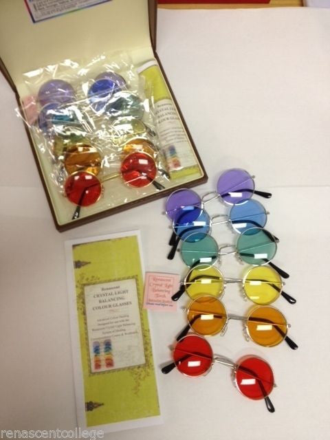 Crystal Light Balancing Colour Therapy Glasses Set