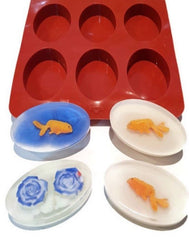 Oval 6 cavity Silicone Mould