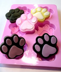 Paw Print Tray Silicone Mould (6 cavities)