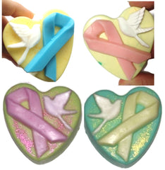 Peace Dove Awareness Ribbon Silicone Mould: Autism, Breast Cancer