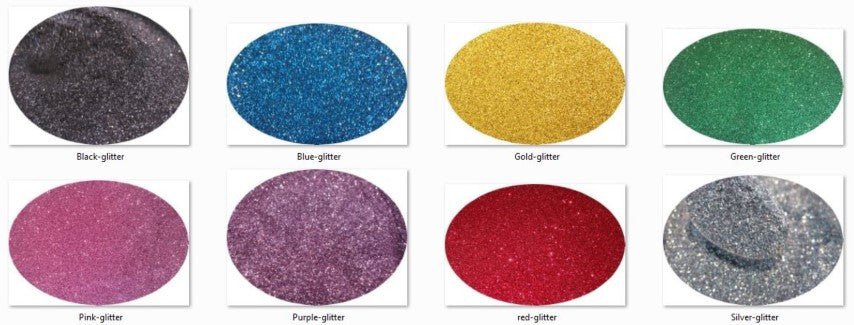 *Cosmetic Grade Glitter Kit of 8 Primary Colours