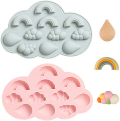 Rainbow Cloud Raindrop Silicone Mould