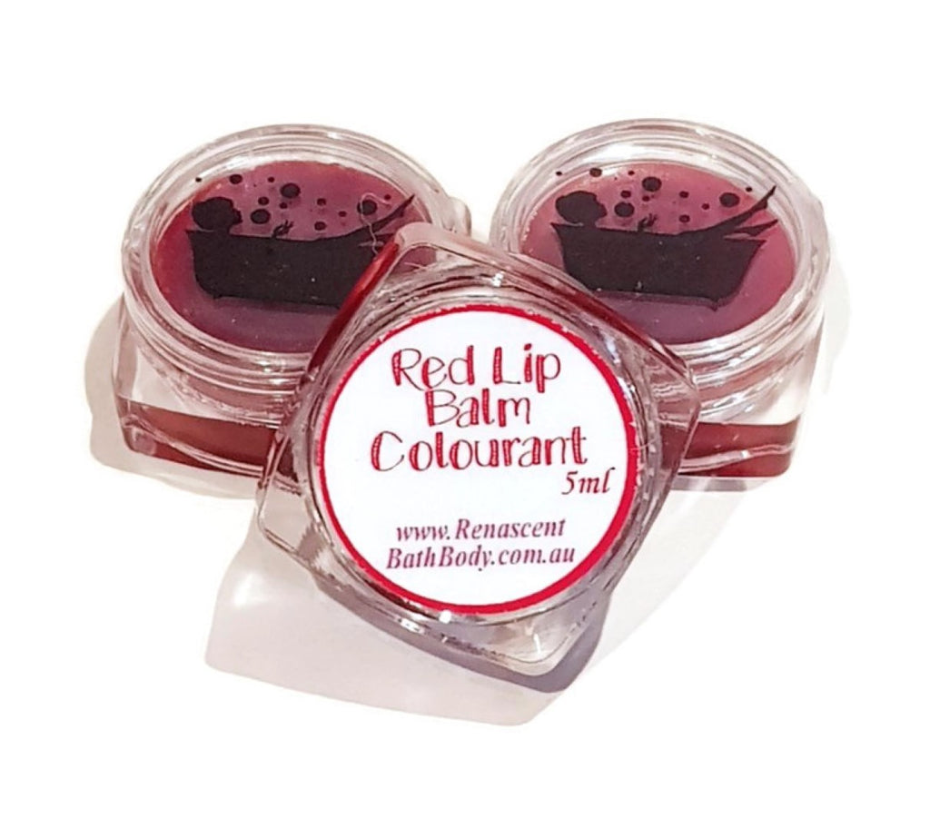 Red Edible Lip Balm Colour Pot Concentrated