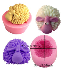 SHEEP GOAT WOOLY Silicone Mould