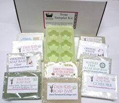 Soap Sampler Kit - 10 Varieties 100gm Bars + Mould