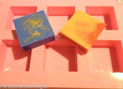 Square (6 Cavity) Silicone Soap Mould