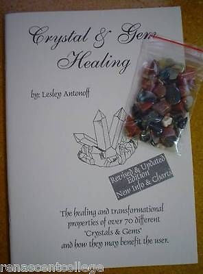 Crystal and Gem Healing Book + Free Bag of gemstones