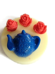 Roses and Tea Silicone Mould